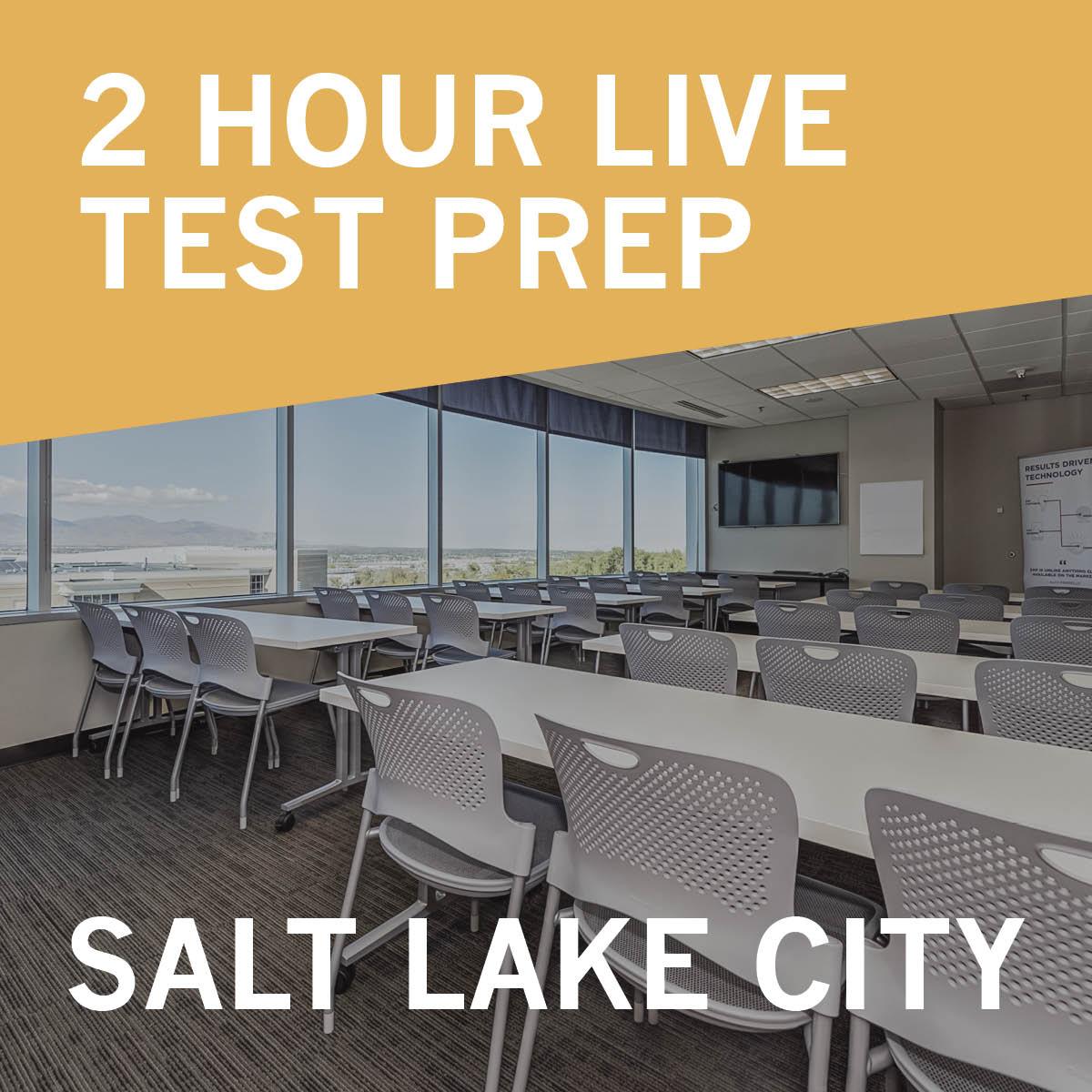 Salt Lake City Utah Homes: 2 Hour Live Test Prep