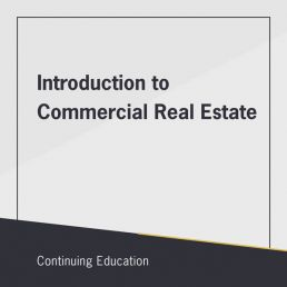 Introduction to Commercial Real Estate class