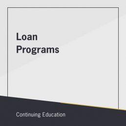 Loan Programs class
