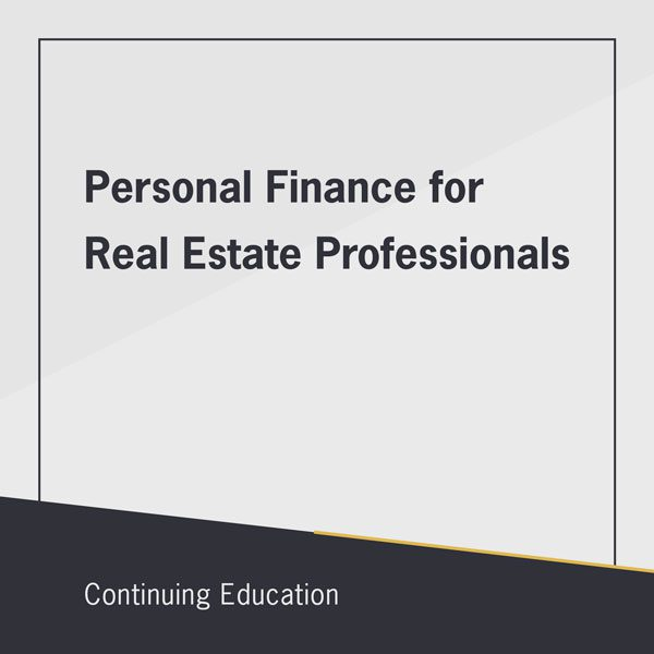 Personal Finance for Real Estate Professionals