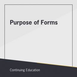 Purpose of Forms online class