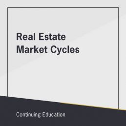 Real Estate Market Cycles online CE class