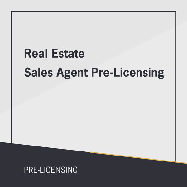 Real Estate Sales Agent Pre-Licensing course