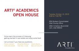 ARTI Academics open house October 15, 2019