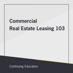 commercial real estate leasing 103 class