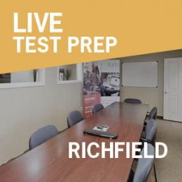 conference room in Richfield used for live test prep