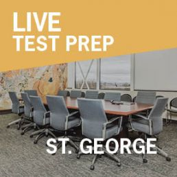 conference room in St. George used for live test prep