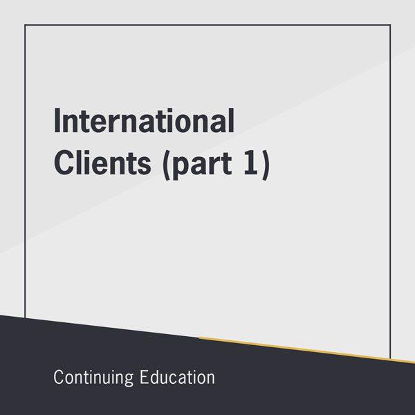 International Clients (part 1) class