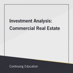 Investment Analysis: Commercial Real Estate class