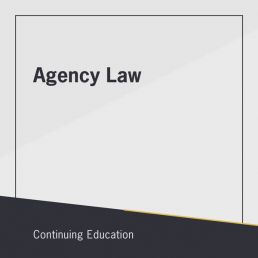 Agency Law course for real estate continuing education