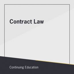 Contract Law course for continuing education in Real Estate