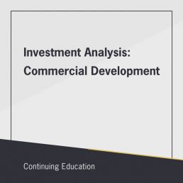 Investment Analysis: Commercial Development class