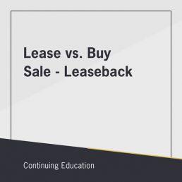 Lease vs. Buy Sale-Leaseback class