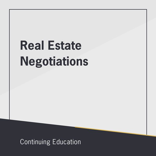 Real Estate Negotiations online class