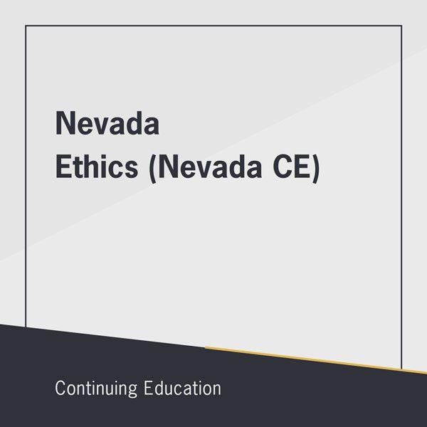 Nevada Ethics (Nevada CE) class