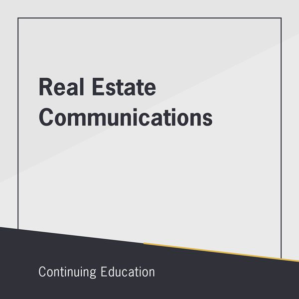 Real Estate Communications online class