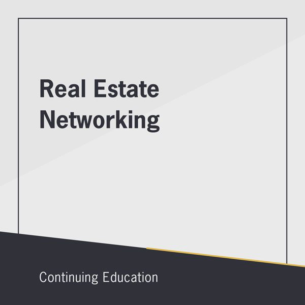 Real Estate Networking class