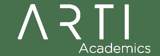 white ARTI Academics logo