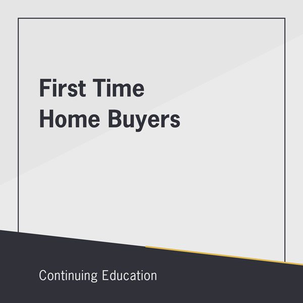 First Time Home Buyers class