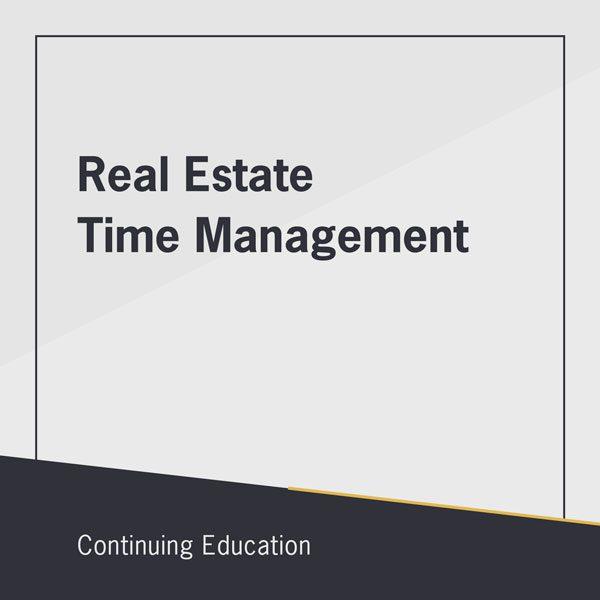 Real Estate Time Management