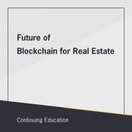 Future of Blockchain for Real Estate class